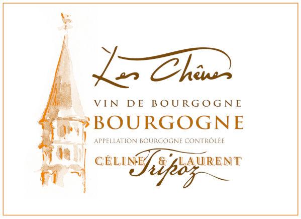 étiquette Bourgogne Blanc Les Chênes, Domaine Tripoz