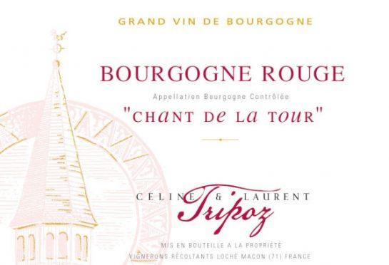 étiquette Bourgogne Rouge Chant de la Tour, Domaine Tripoz