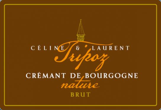 étiquette Crémant de Bourgogne Nature, Domaine Tripoz