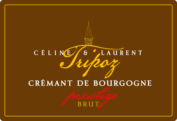 étiquette Crémant de Bourgogne Prestige, Domaine Tripoz