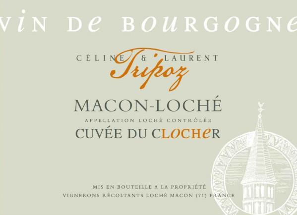 étiquette Mâcon-Loché cuvée du Clocher, Domaine Tripoz