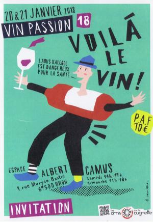 Affiche Salon Vin Passion 2018 à Bron