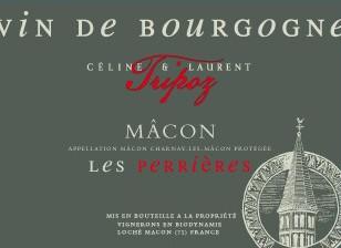 étiquette Mâcon Rouge Les Perrières, Domaine Tripoz