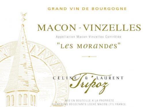 étiquette Mâcon Vinzelles Les Morandes, Domaine Tripoz