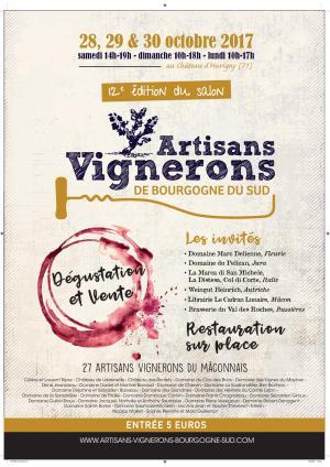 affiche Salon Artisans Vignerons à Hurigny, 2017