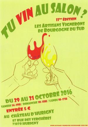 Salon des vins Bourgogne Sud Hurigny 2016